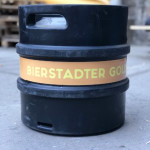 Bierstadter Gold black logo smallwiesbaden beer brewery keg 30l naturtrüb unfiltered