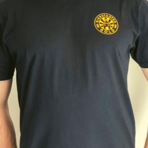 Bierstadter Gold T-Shirt schwarz Logo klein
